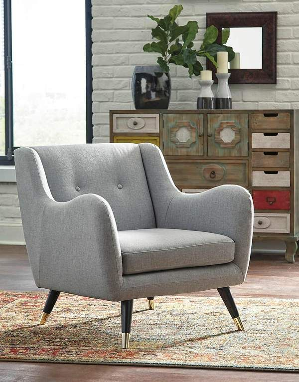 Menga Accent Chair Furniture Pinterest Ash grey, Contemporary