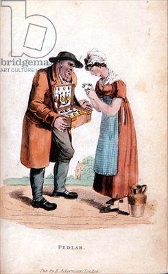 """Pedlar"", Published by R. Ackermann, British, 1820's."