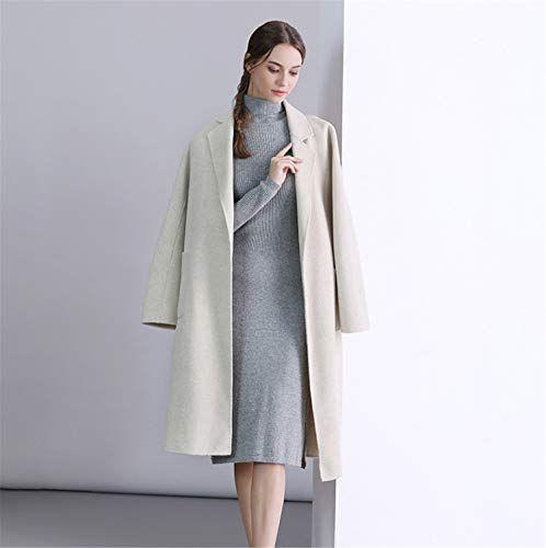 LUCKY CLOVER A Wolle Wollmantel Lange Winter lässig Cashmere