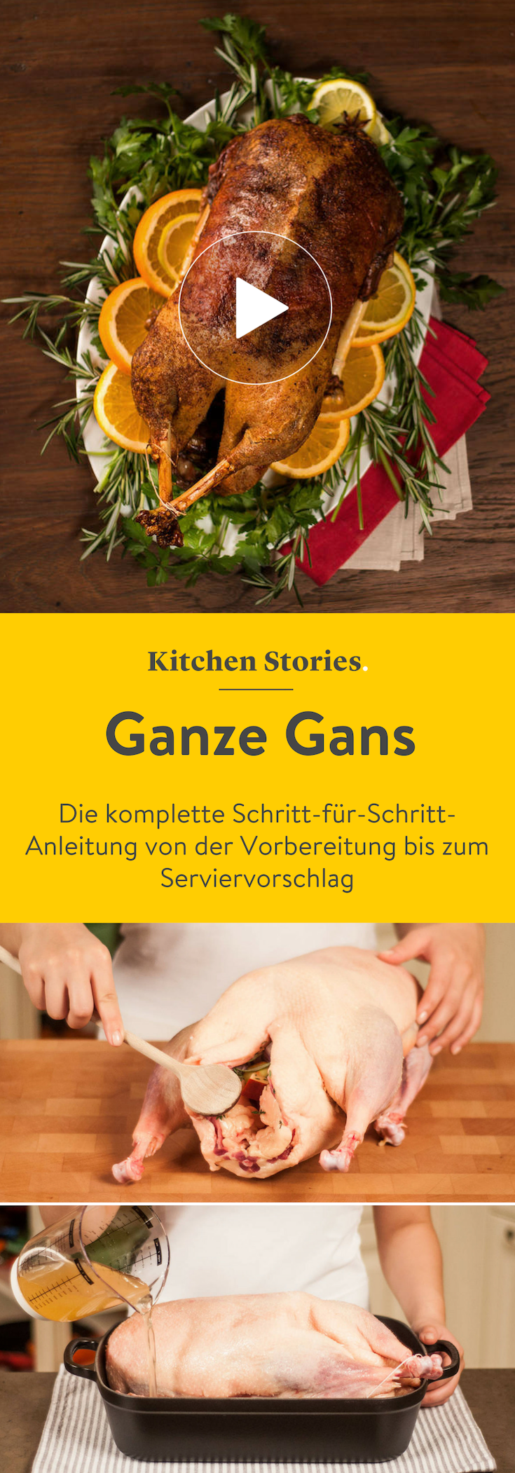 Ganze Gans | Rezept mit Video | Kitchen Stories #crockpotappetizers