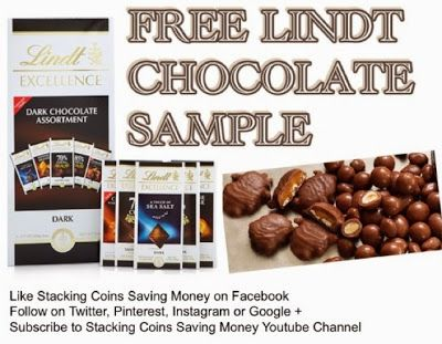Stacking Coins Saving Money: FREE Lindt Excellence Chocolate ...