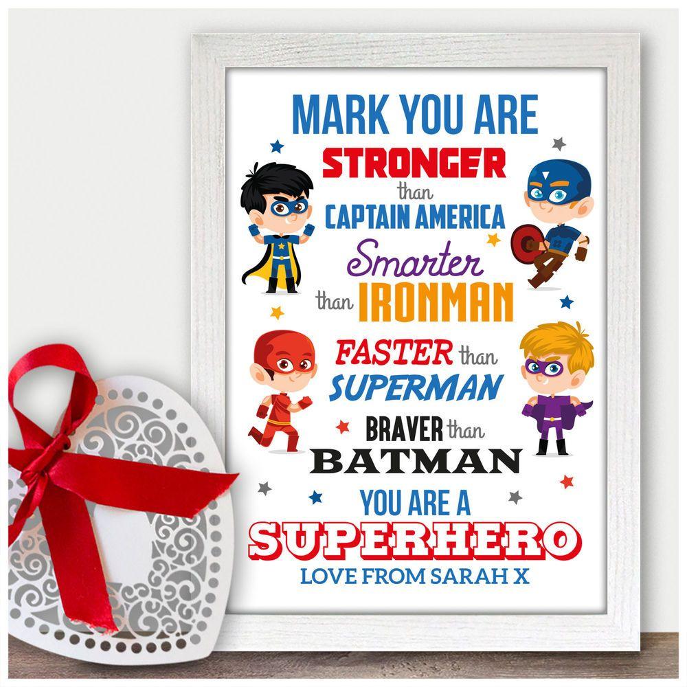 Super Hero Husband 1st Wedding Anniversary Gift Ideas for