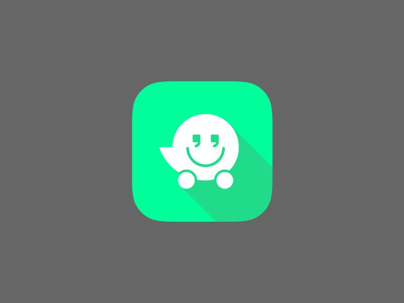 Waze Icon Google+iOS7 Hybrid Style Ios 7, Icon design, Icon