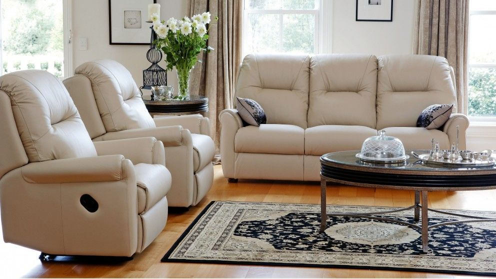 rilley 3 piece leather recliner lounge suite recliner lounges