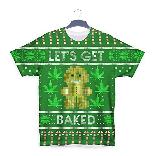 lets get baked gingerbread marijuana ganga christmas t shirt