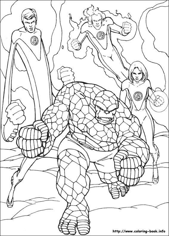 Fantastic Four Coloring Picture Cartoon Coloring Pages Coloring Pages Coloring Books