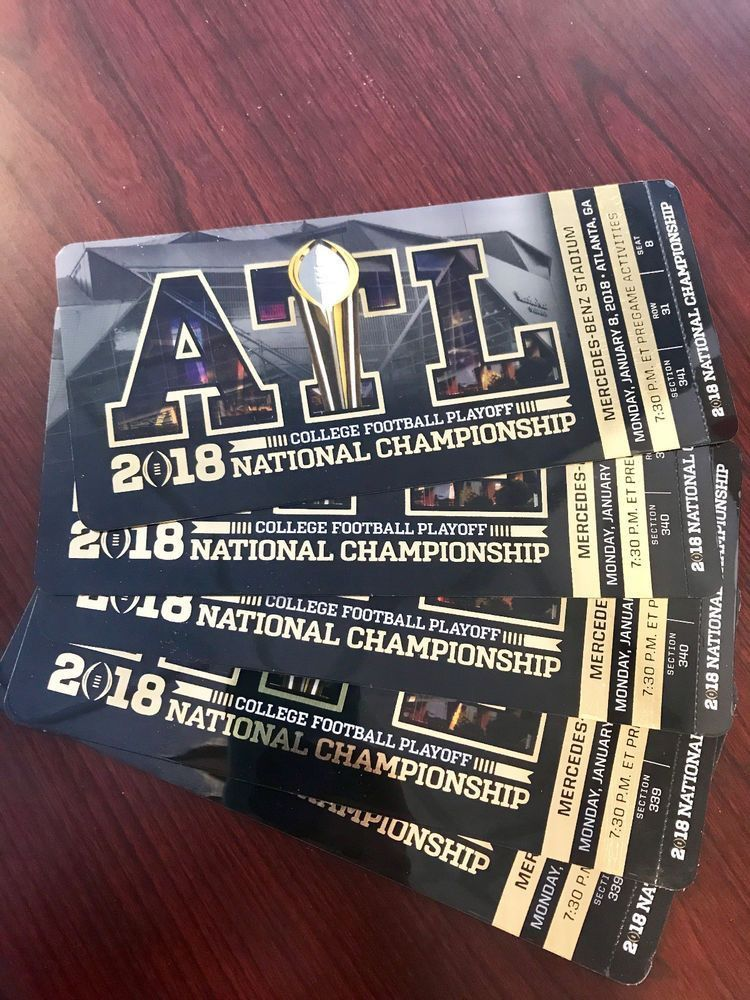2018 national championship ticket stubs national