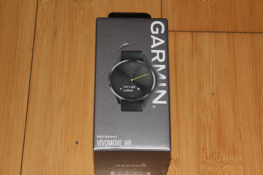Garmin Vivomove HR Hybrid Smartwatch Wearable4U Compact Bundle 010-01850-11 Aktivitätstracker