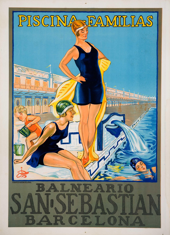 Old poster vintage barcelona carteles pinterest balnearios barcelona y santos - Carteles retro ...