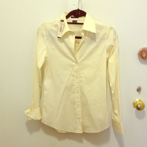 Theory button down shirt yellowish cream color | Bb, Customer ...