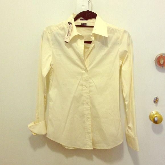 Theory button down shirt yellowish cream color | Bb, Customer ...