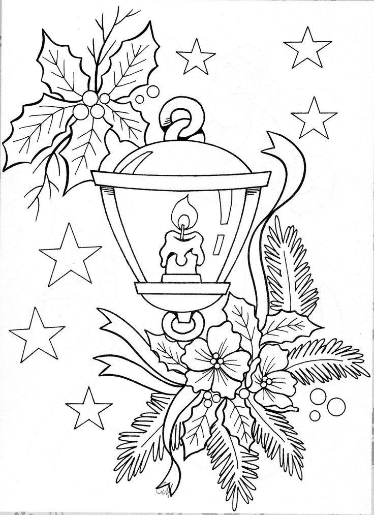 Christmas Candles Coloring Pages | Patrones de bordadoAhui ...