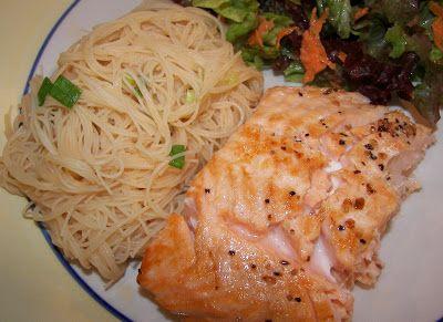 Dans la cuisine de Tartine: Saumon grillé et vermicelle de riz sésame et miel