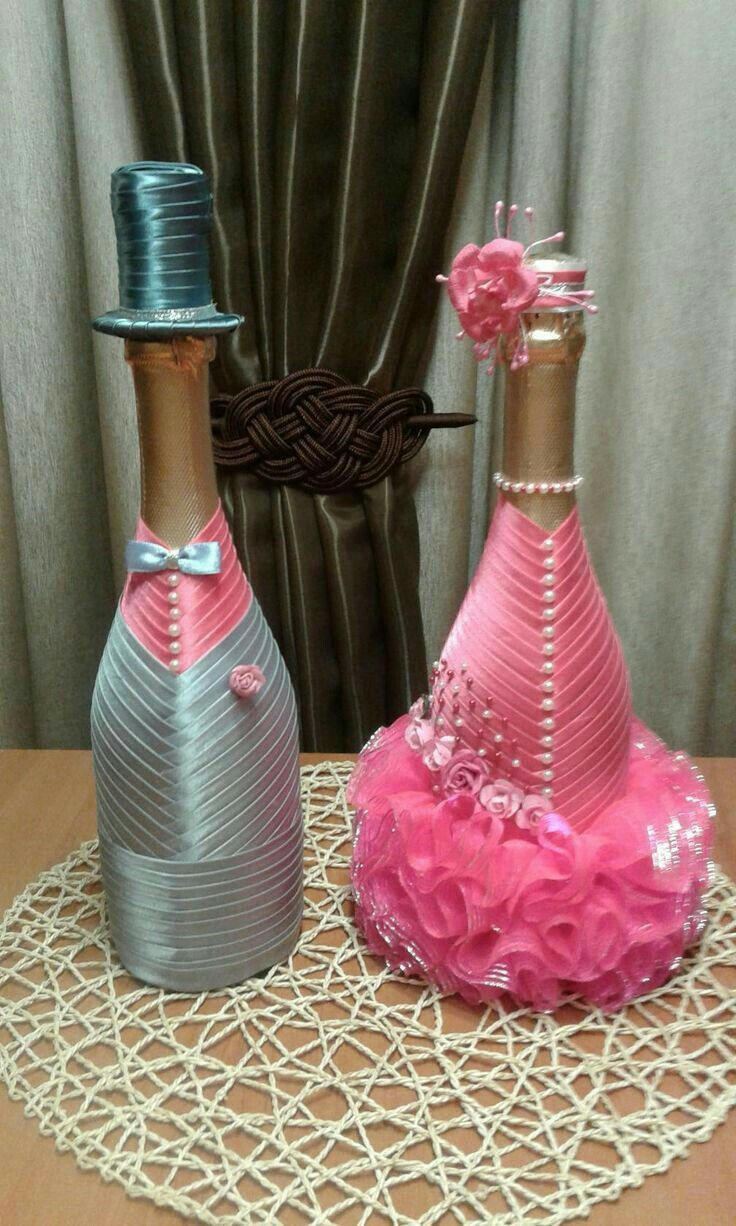 decoratedwinebottles butelka dla pary m odej i kieliszki pinterest flaschen flaschen. Black Bedroom Furniture Sets. Home Design Ideas