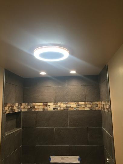 Home Netwerks Decorative White 90 Cfm Bluetooth Stereo Speaker Bath Fan With Led Light 7130 02 Bathroom Ventilation Fan Shower Exhaust Fan Bathroom Exhaust Fan