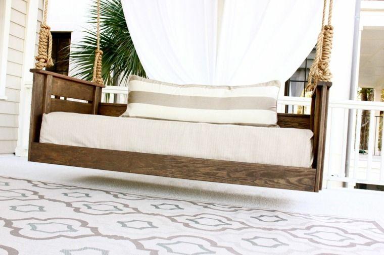 Canapé et lit suspendu pour décoration de terrasse et jardin
