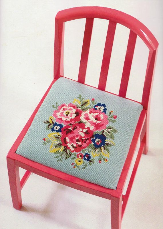 Bouquet Seat Cover Cath Kidston cross stitch pdf pattern