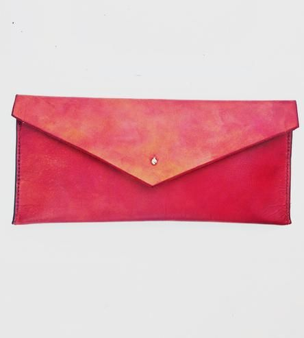 The Emily Leather Envelope Clutch by Made in Rye on Scoutmob Shoppe
