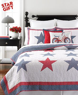 For The Guest Room Martha Stewart Collection Star Spangled Quilts