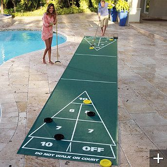Portable Shuffleboard Court A must have for the pool deck I love shuffle board!!