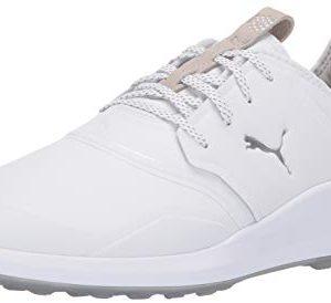 Puma Golf Men S Ignite Nxt Pro Golf Shoe Puma White Puma Silver Gray Violet In 2020 Golf Shoes Pro Golf Mens Golf
