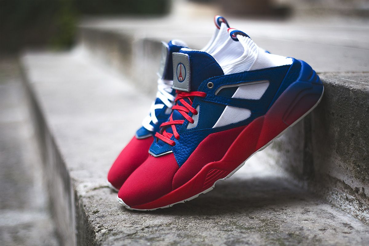 "1bac097d2288 Sneakerness x PUMA ""Paris Patriot Pack"" Blaze of Glory Sock - EU Kicks   Sneaker Magazine"