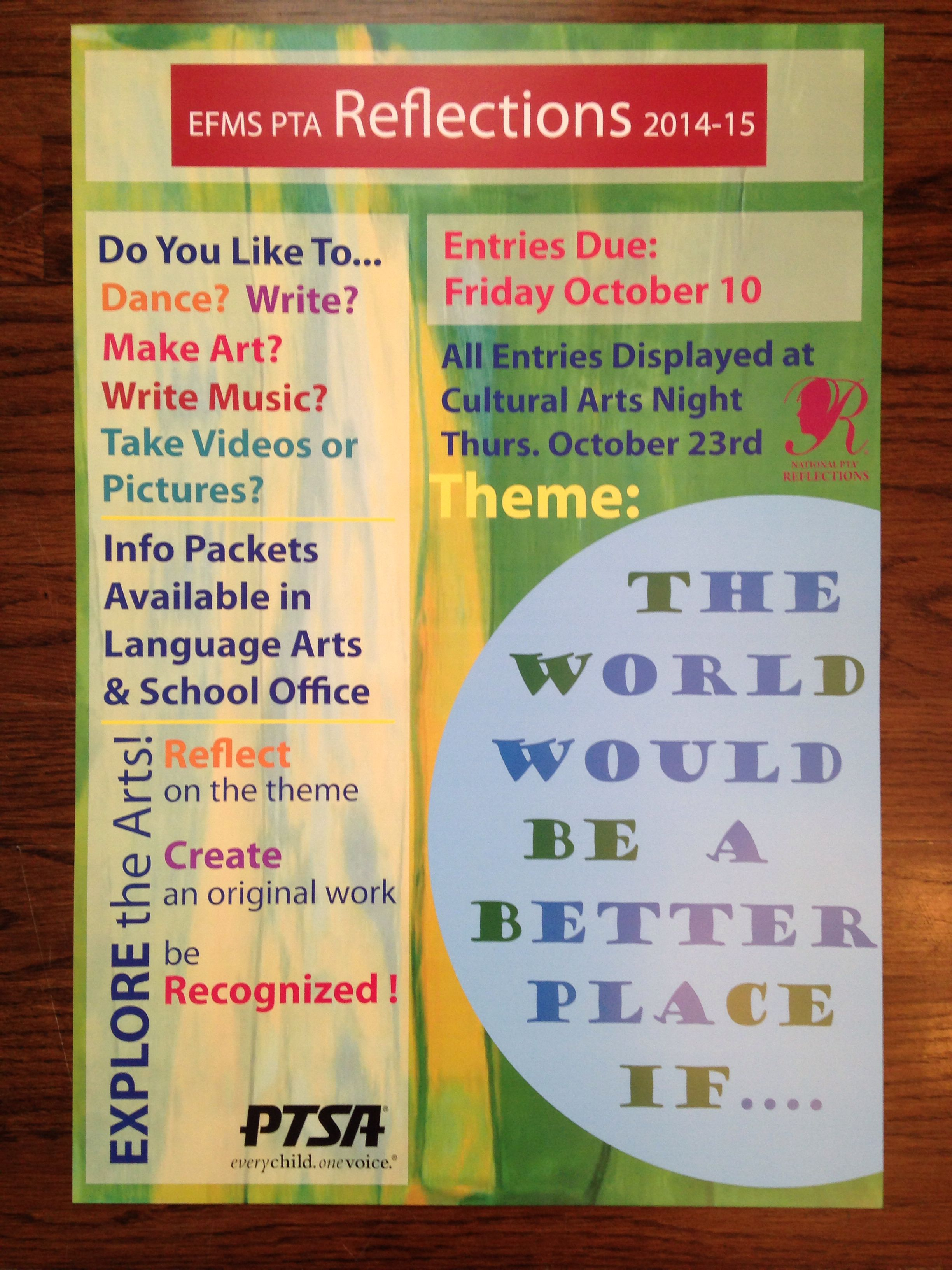 A poster i designed for ptsa reflections contest fall