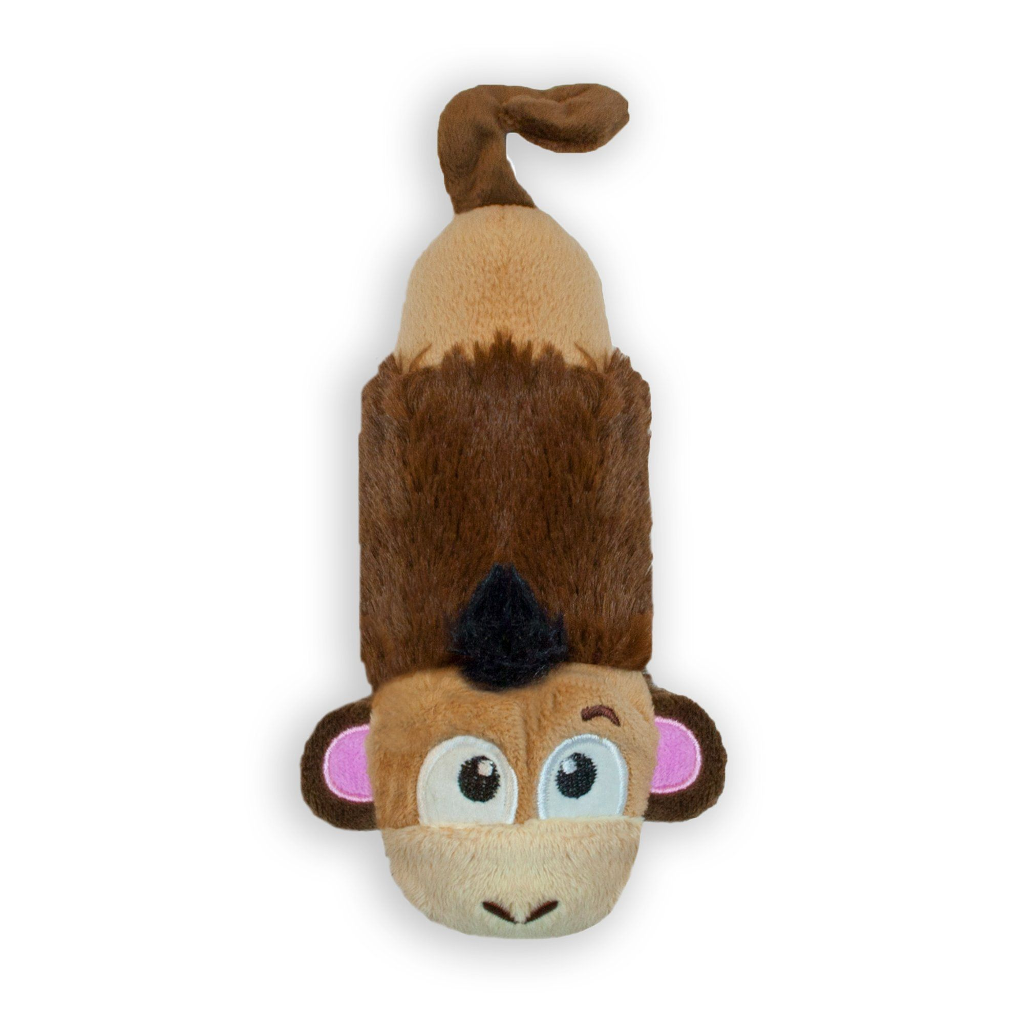 Petstages Just For Fun No Stuffing Plush Lil Squeak Monkey Dog Toy