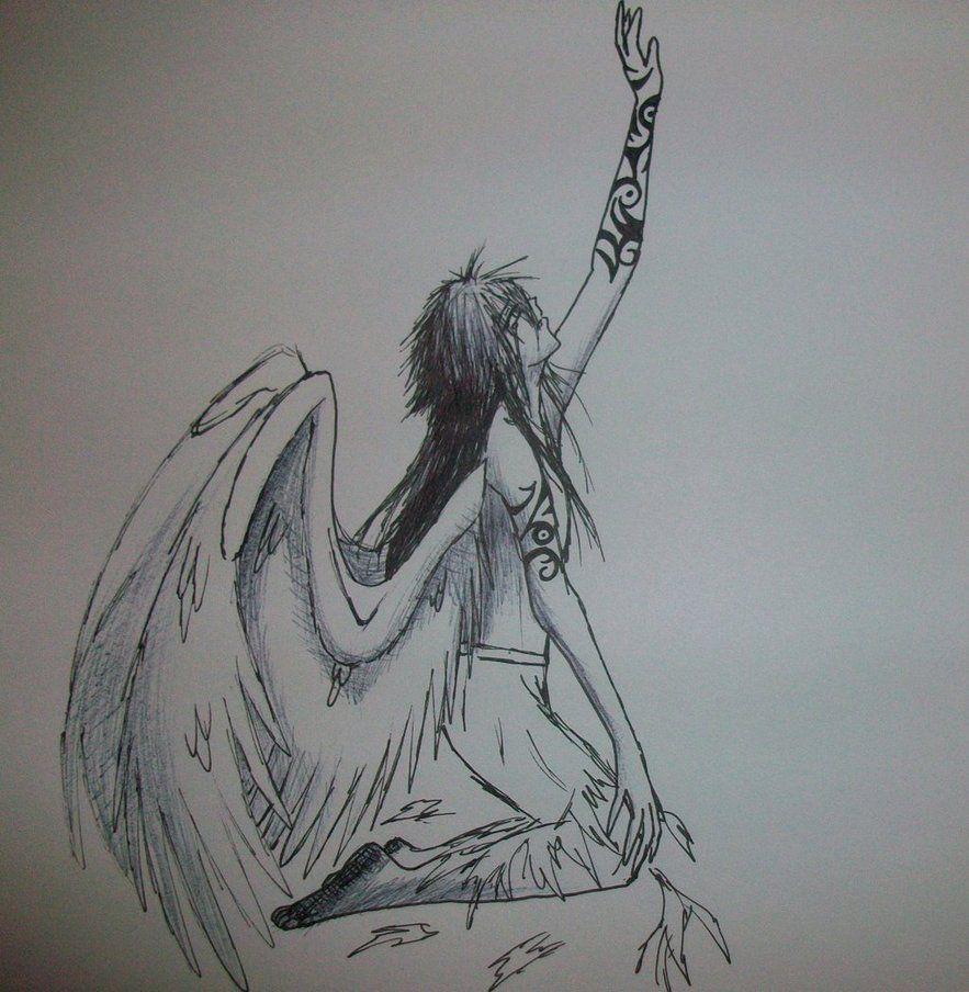 Anime For Gt Dark Anime Fallen Angels Angel Drawing Angel