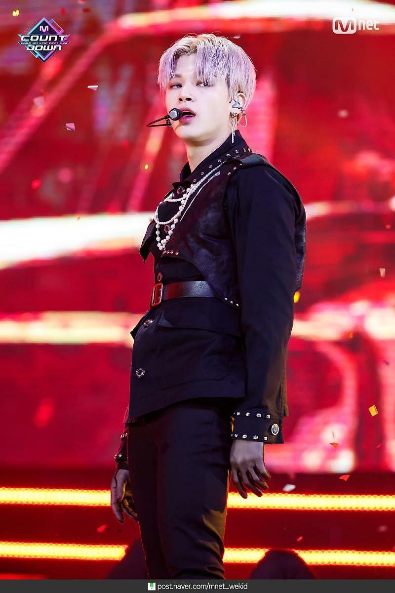 Ateez At Mcountdown 1 16 2020 Wooyoung Punk Boy Kpop Fashion Jung Woo Young