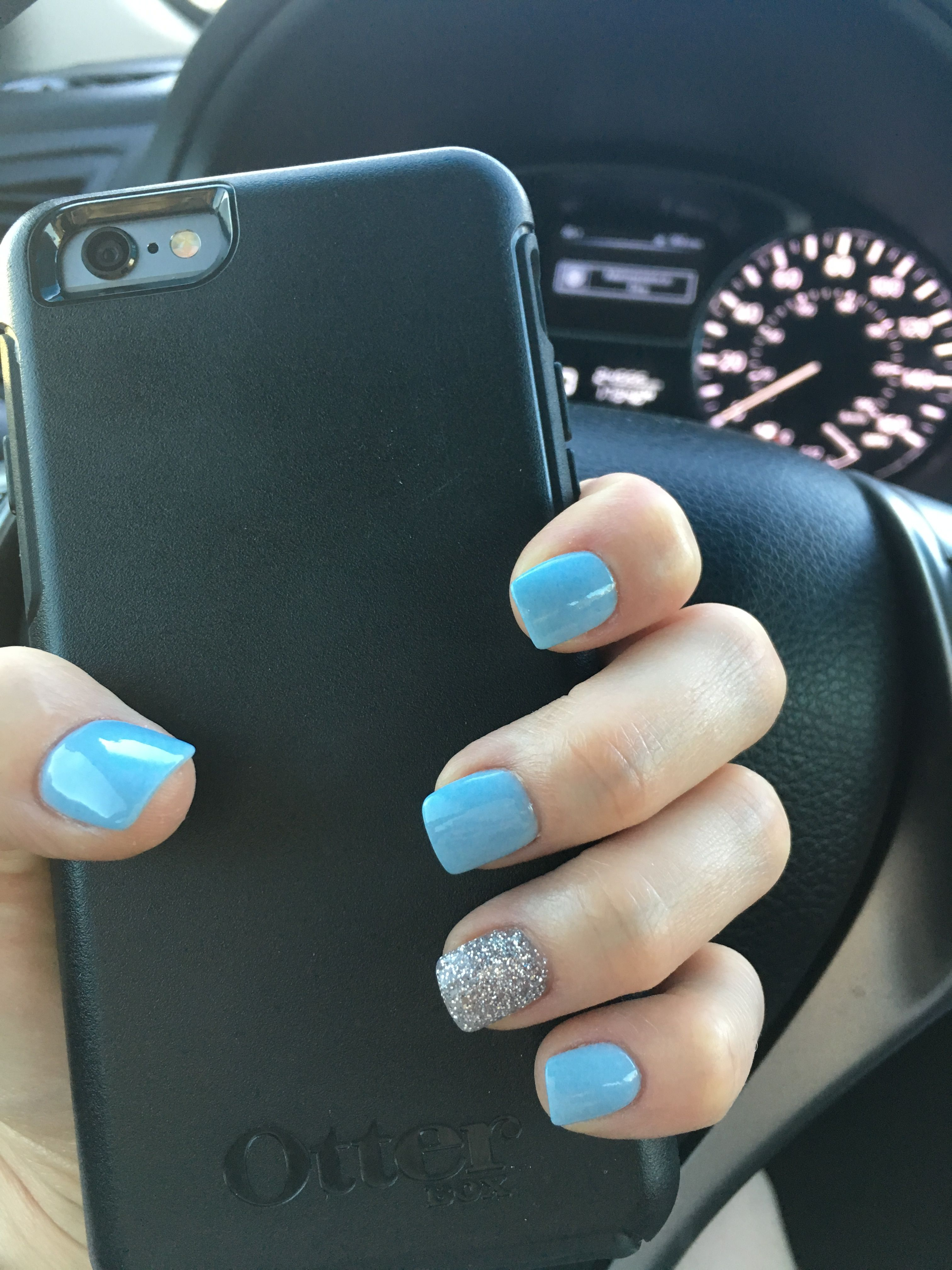 Dip Powder Blue Nails Great For Spring Or Summer With Images