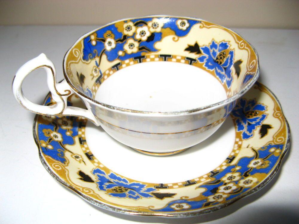 Vintage rare Royal Albert Crown China Hawthorne tea Cup and Saucer set England