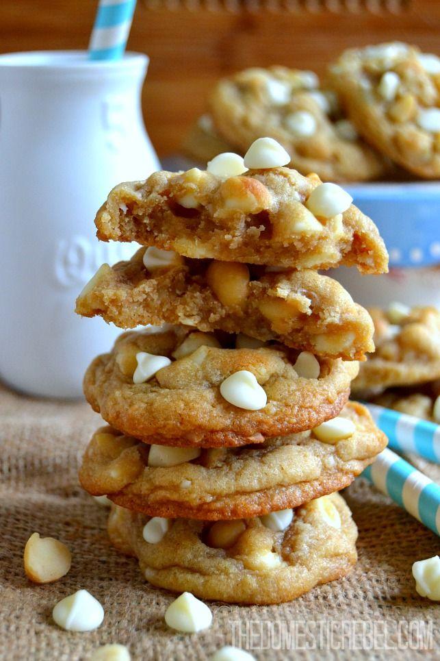 Ultra Soft & Chewy White Chocolate Macadamia Nut Cookies ...