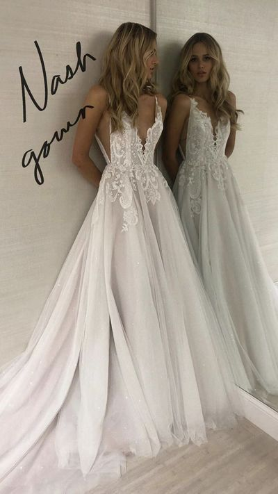 Spaghetti Straps Wedding Dress,Informal Boho Wedding Dress,Sexy Open Back Bridal Dress from Sancta Sophia