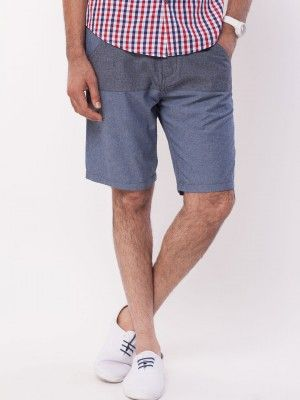 KOOVS Cut And Sew Contrast Panel Shorts buy from koovs.com