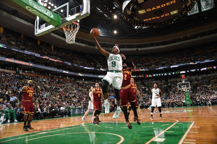 Boston Celtics' Al Horford walks off the court at the end of Game 3 of the  team's NBA basketball Eastern Conference finals against the Cleveland  Cavaliers, ...