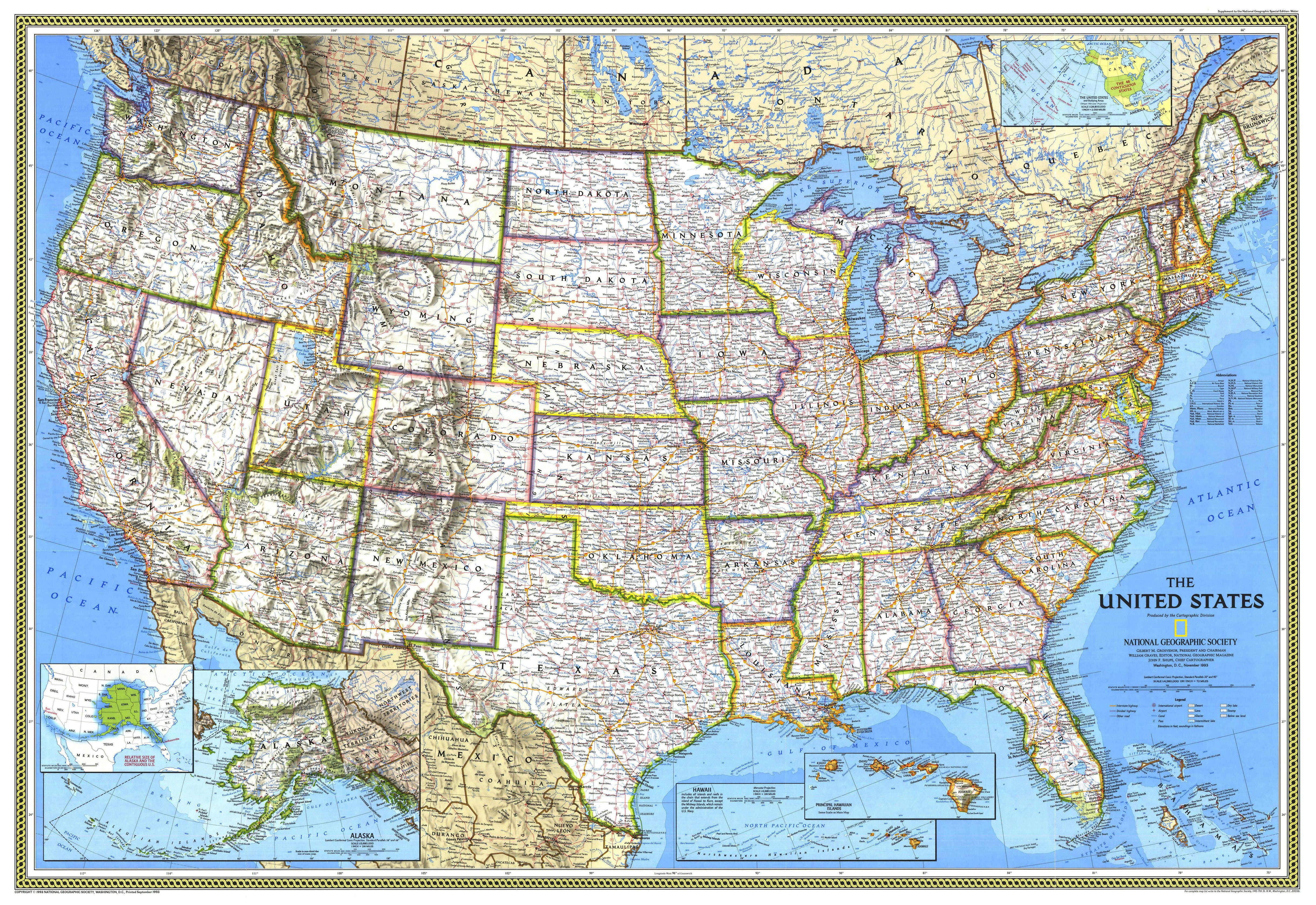 United States National Geographic Map Google Search Walk - Usa map google