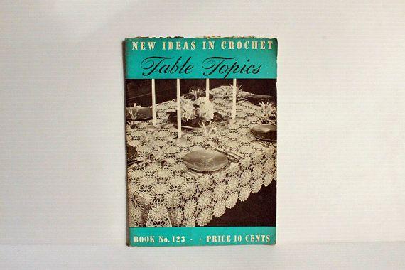 VINTAGE CROCHET PATTERN Book,Cotton Crochet pattern book,placemat patterns,crochet tablecloth patterns,vintage paper ephemera,gift for her
