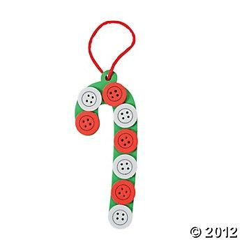 candy cane crafts | Button Candy Cane | Kid Crafts