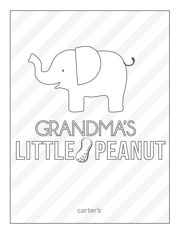 Grandmau0027s Little Peanut - new christmas coloring pages for grandparents