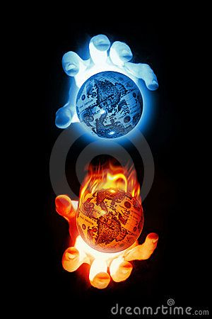 Fire Ice Hands Over Globes Fire And Ice Fire Art Flame Art