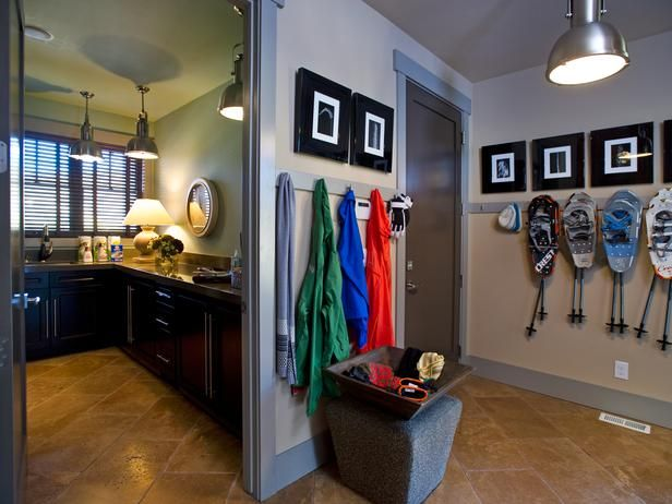 Mudroom    Accessible from the garage and most likely the first space one encounters, the mudroom handles heavy foot traffic without sacrificing style.