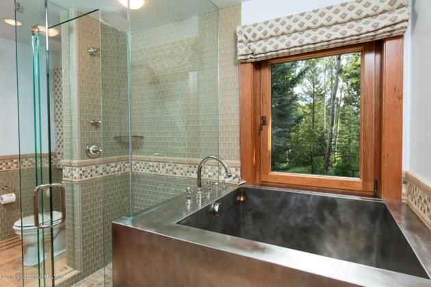 metal tub : Christy Walton's Wyoming estate  for sale