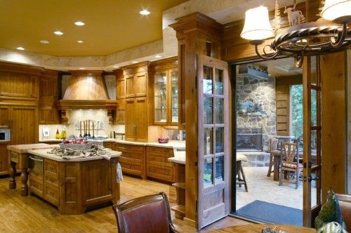 Kitchen leading to Covered Deck - so want this