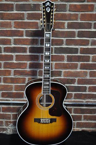 details about guild f 40 jumbo acoustic guitar antique burst in 2019 gear 12 string acoustic. Black Bedroom Furniture Sets. Home Design Ideas