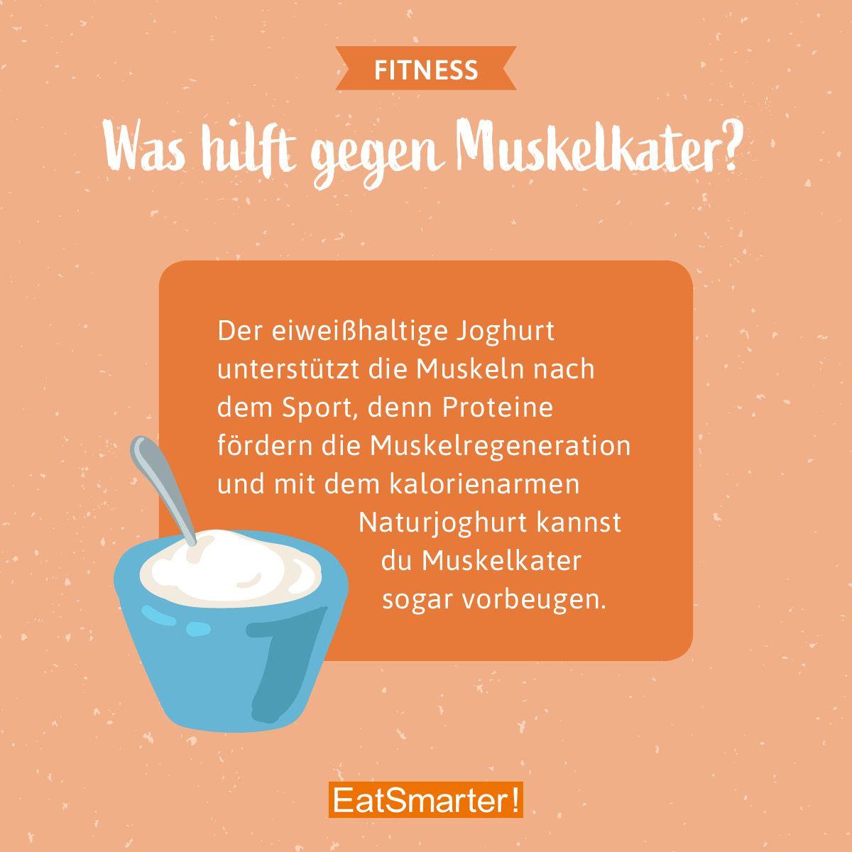 Joghurt unterstützt die Muskeln nach dem Sport mit den darin enthaltenen Proteinen. 5 weitere Lebens...