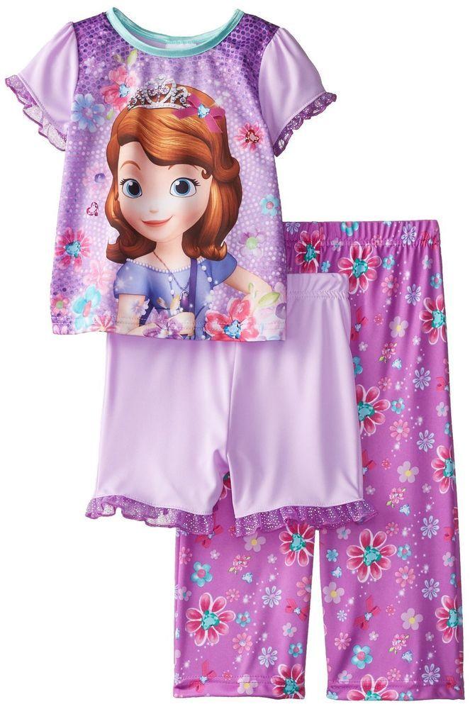 e546f2575b Disney Girls Sofia First Pajama Set Flower Fun 3 Piece toddlers size 4T NEW  https