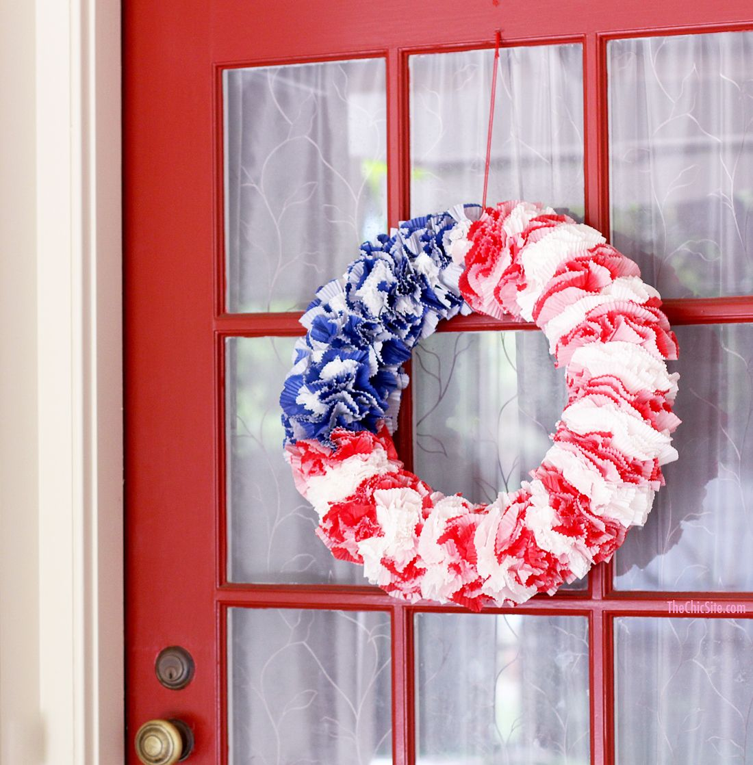 Red, White and Blue Wreath Rachel Hollis The chic site