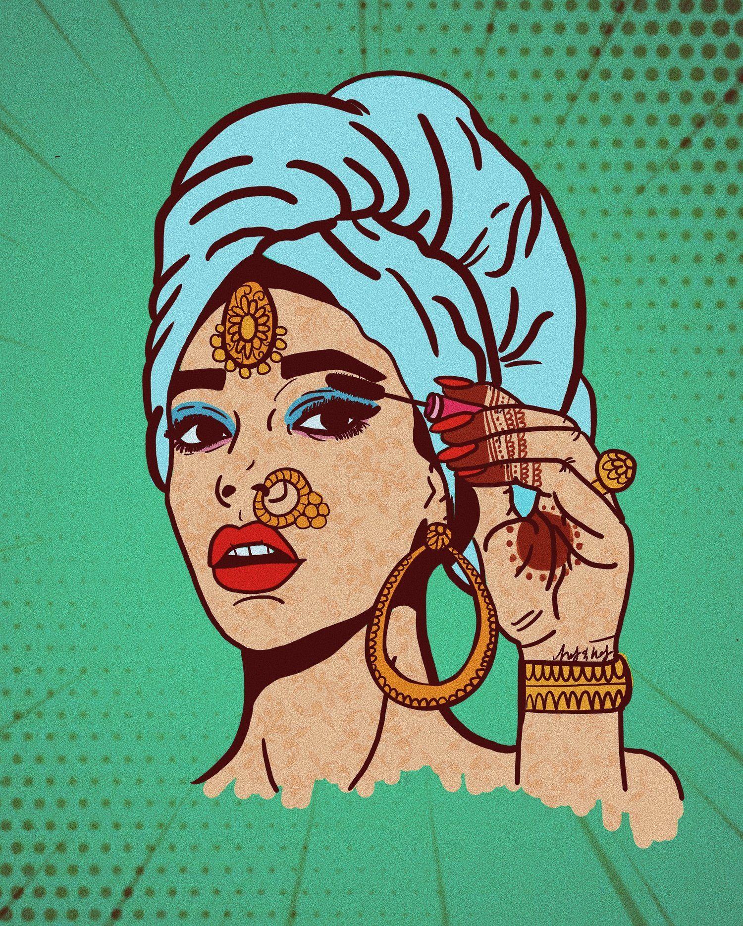 I M Ready Haf Haf Pop Art Comic Retro Art Indian Art