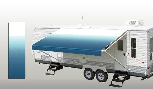 RV Patio Awning Fabric Ocean Blue Fade 21' *(approximate ...